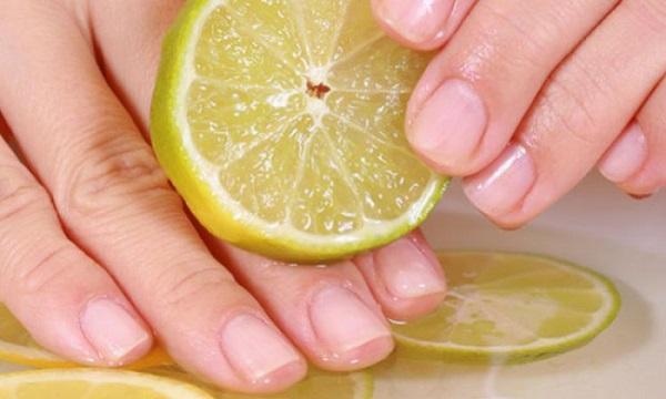 limon ile tırnak bakımı