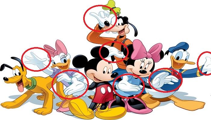Disney Karakterleri Neden Beyaz Eldiven Giyer