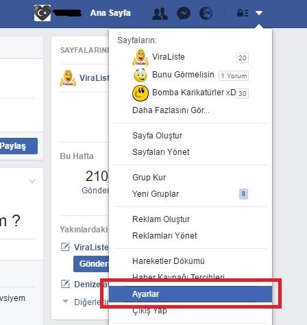 Facebook Ayarlar