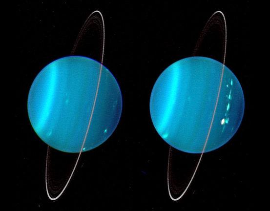 Uranüs eğimli döner