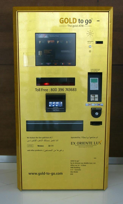 Dubai'de altın otomatı