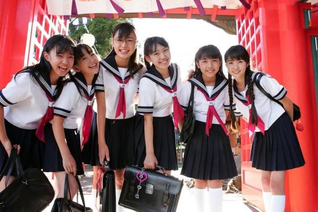 Japon kız öğrenciler