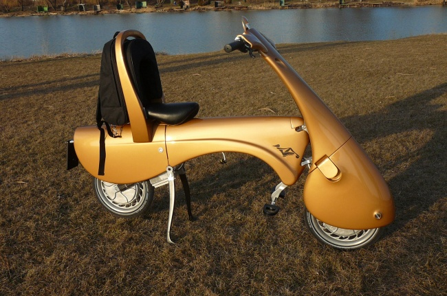 Valize dönüşebilen scooter