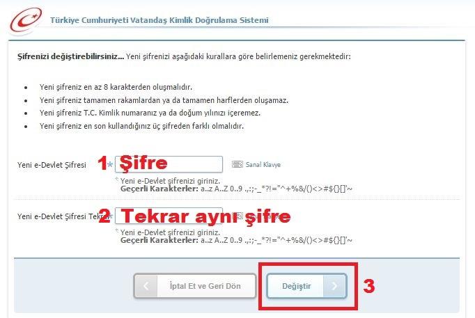 e-Devlet Şifre Değiştirme Nasıl Yapılır