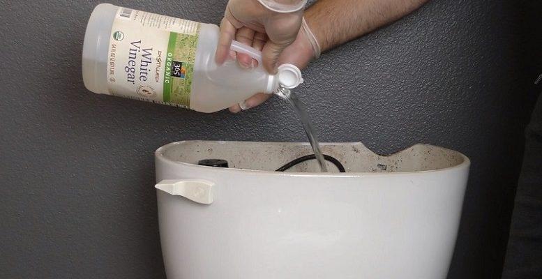 Sirke ile tuvalet temizliği