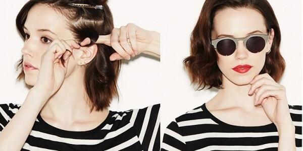 Parmaklarınızı Kullanarak Saç Dalgası Yapımı