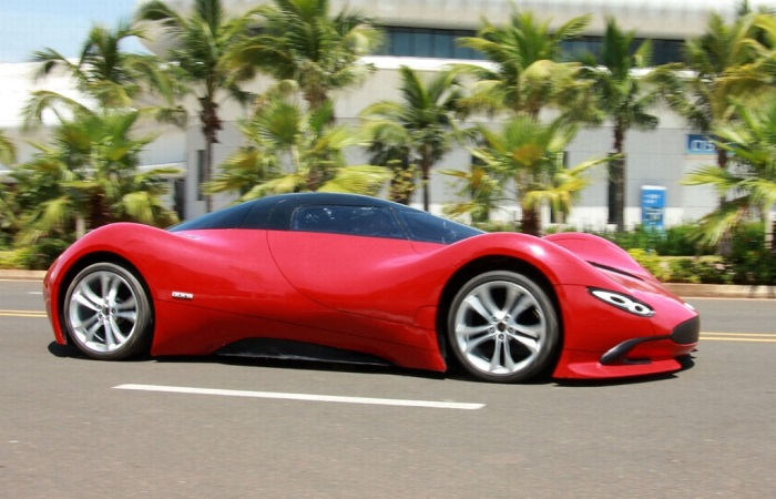 Chen Yinxi'nin elektrikli süper arabası
