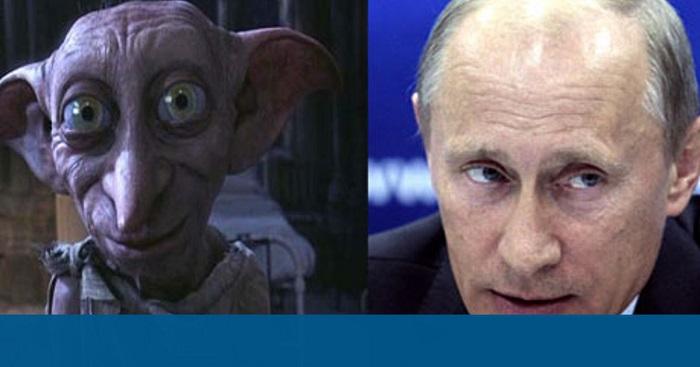 Viladimir Putin ve Dobby karakteri