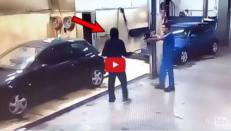 soyguncuya araba temizleten oto yıkamacı