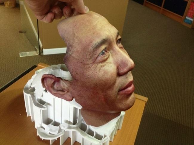3D yazıcı ile üretilmiş insan yüzü