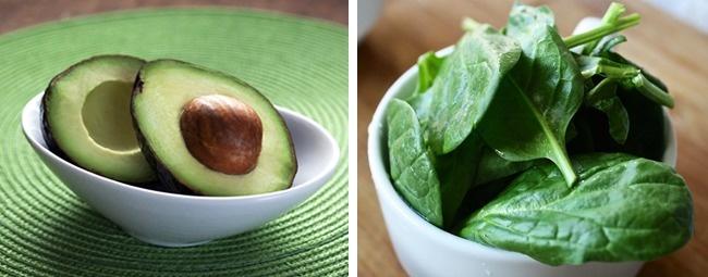 ıspanak ve avokado yağı