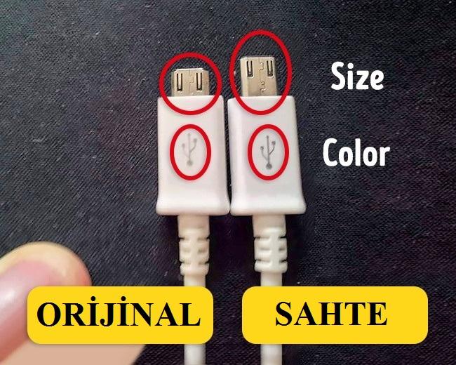 sahte usb kablo