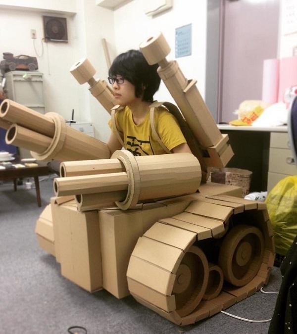 Karton Kutudan Tank