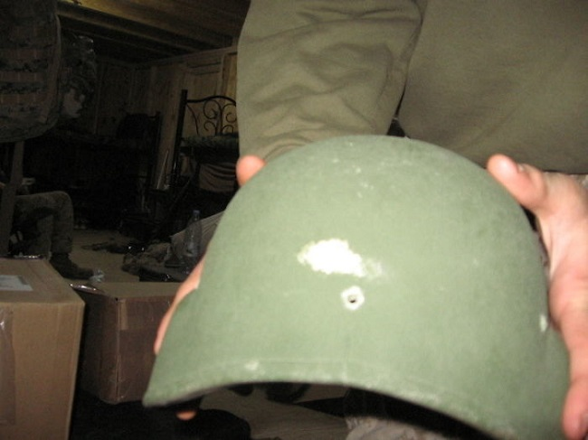 kask mermi deliği