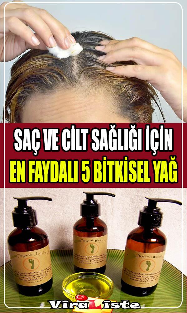 saç ve cilt sağlığı için en faydalı bitkisel yağlar