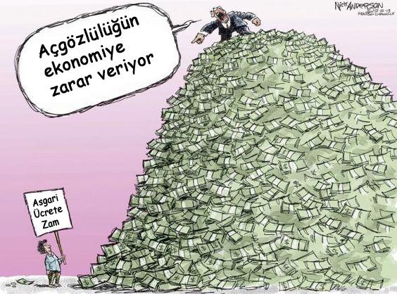 Asgari ücret karikatürü